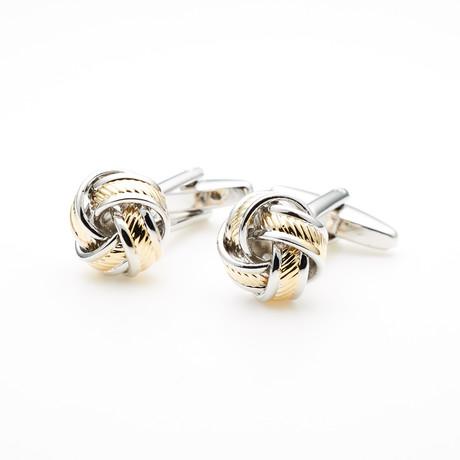2-Tone Knot Classic Cufflink