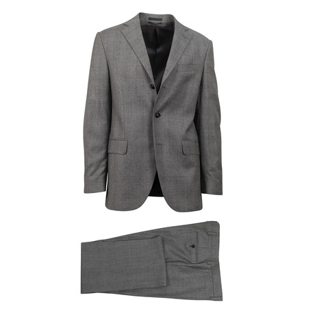 Check Wool 3 Roll 2 Button Classic Fit Suit // Gray (Euro: 44S)