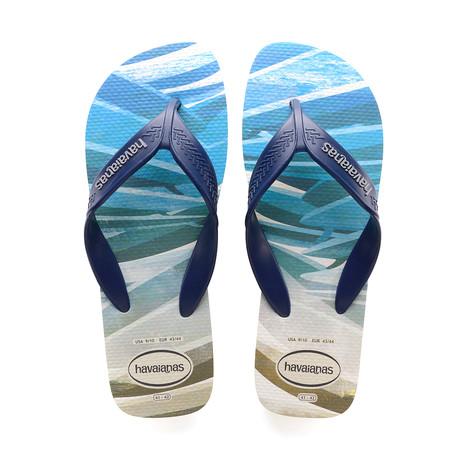Surf Sandal // Beige + Navy Blue (US: 8)
