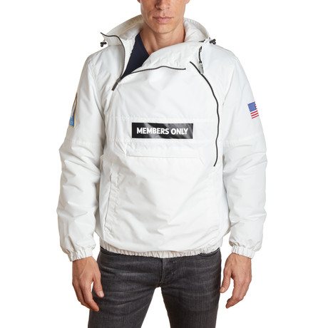 NASA Windbreaker Jacket // White (S)