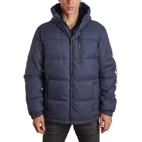 Twill Puffer Jacket // Navy Heather (S)