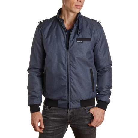 Heather Iconic Racer Jacket  // Navy Heather (S)