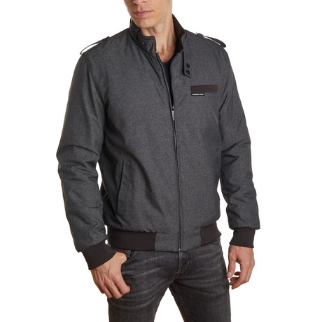 Heather Iconic Racer Jacket  // Charcoal Heather (S)