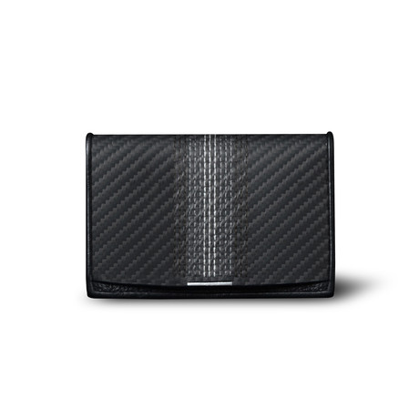 Soft Carbon Fiber Embroidered Wallet // Compact