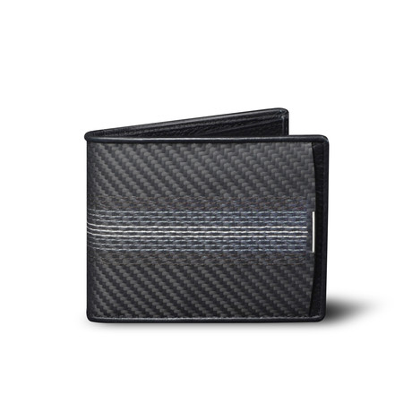 Soft Carbon Fiber Embroidered Wallet // Classic