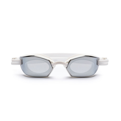 Westward Leaning DIVE 02 // Swim Goggle // White + Silver Mirror