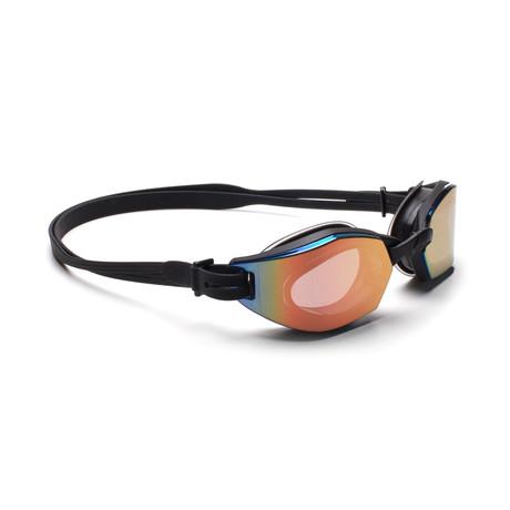 Men's DIVE 01 Swim Goggles // Black + Red Mirror