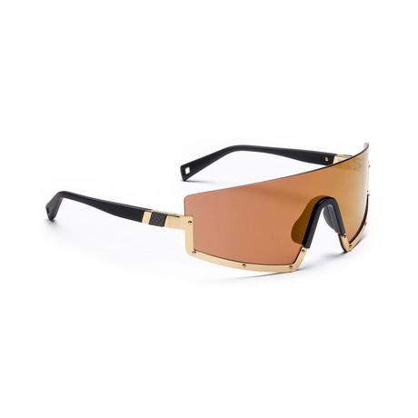 Men's STUN 02 Sunglasses // Black + Gold