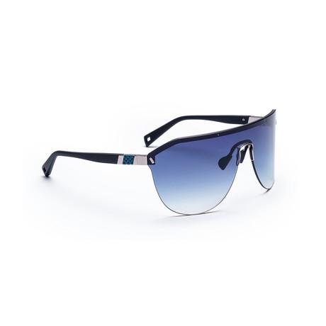 Men's VIBE 03 Sunglasses // Black + Navy Gradient