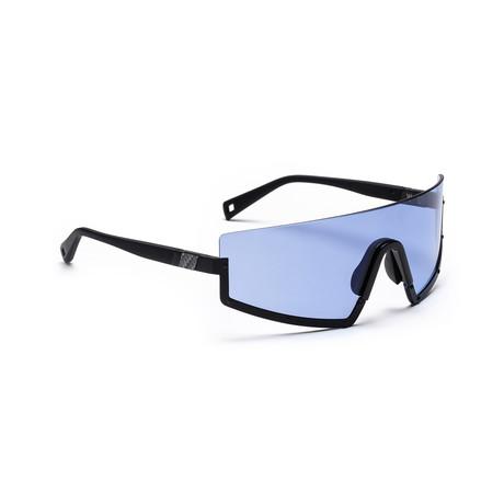 Men's STUN 01 Sunglasses // Black + Marine Blue