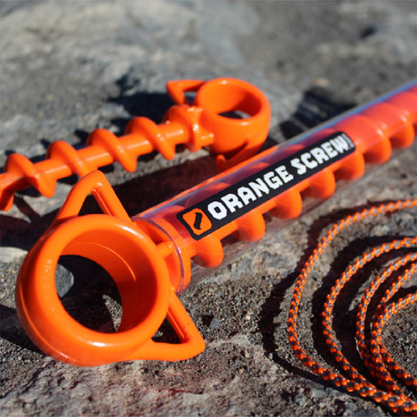 Orange Screw™ Bundle // 4 Small + 2 Large + Reflective Cord