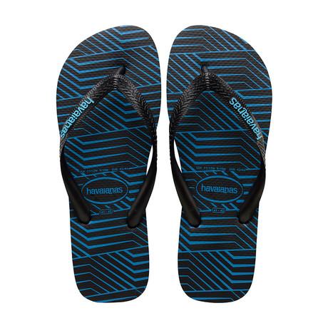 Graphic Blocks Sandal // Black + Turquoise (US: 8)