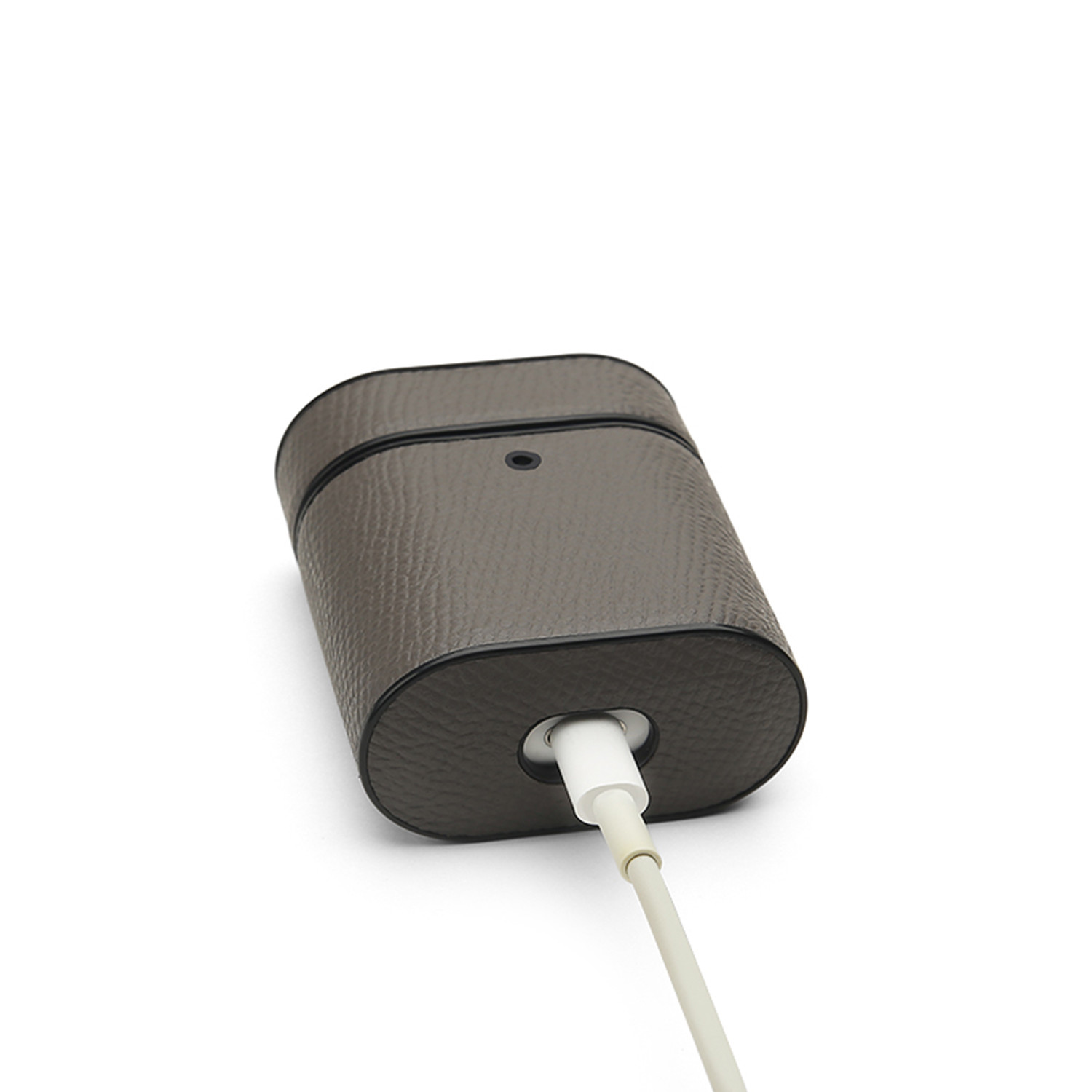 Grain Leather Airpod Case \/\/ Mystic Grey - Jaunter - Touch of Modern
