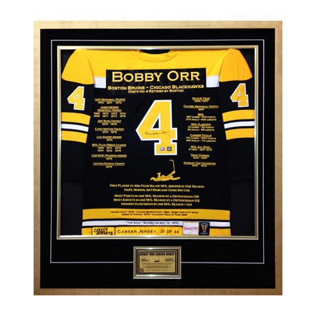 Bobby Orr // Limited Edition Autographed Display // Elite Edition Career Jersey
