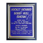 Bobby Hull +  Maurice Richard // Signed Vintage Sign