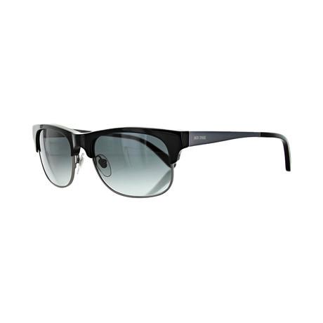 Men's Square Sunglasses // Black + Gray Gradient