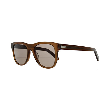Men's Square Sunglasses // Milky Brown + Brown