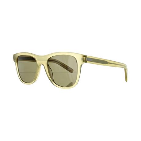Men's Square Sunglasses // Milky Khaki + Brown