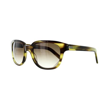 Men's Square Sunglasses // Olive Havana + Brown