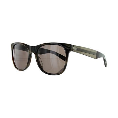 Men's Square Sunglasses // Brown Havana + Brown