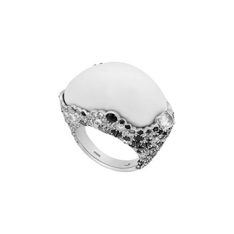 Stefan Hafner 18k White Gold Multi-Stone Ring // Ring Size: 6.75