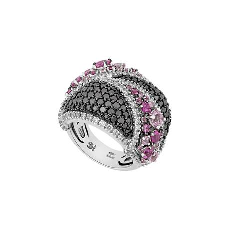 Stefan Hafner 18k White Gold Multi-Stone Ring // Ring Size: 6
