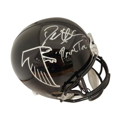 """Signed Full Size Replica Helmet // Falcons // Deion Sanders // """"Primetime"""""""