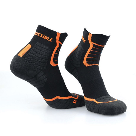 Indestructible Socks // Black // 2 Pack (6-9)