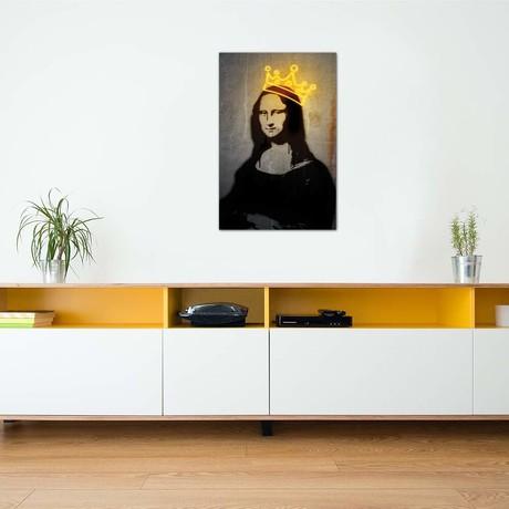 "Neon Mona Lisa // Danilo de Alexandria (26""W x 40""H x 1.5""D)"
