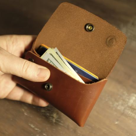 Double Closure Wallet // Cognac