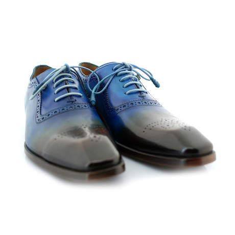 New York Blue Oxford // Blue + Brown (US: 7)