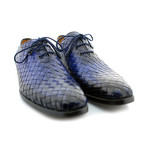 William Woven Whole Cut Oxford // Blue (US: 10)