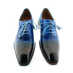New York Blue Oxford // Blue + Brown (US: 11)