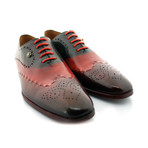 Mr. Green Medallion Oxford // Green + Red (US: 10.5)