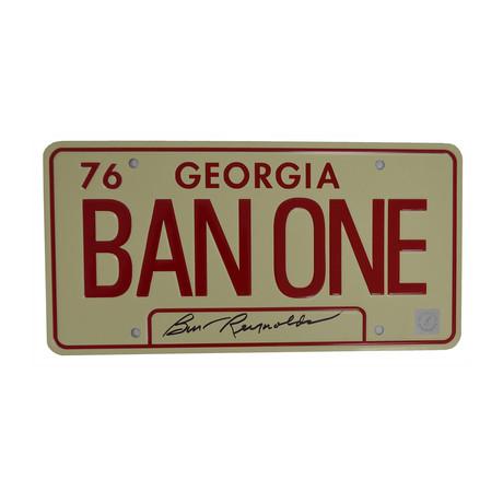 Burt Reynolds // Autographed License Plate // Smokey and The Bandit