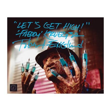"Robert Englund // Autographed Photo // ""Let's Get High, Freddy Krueger"" Inscription"