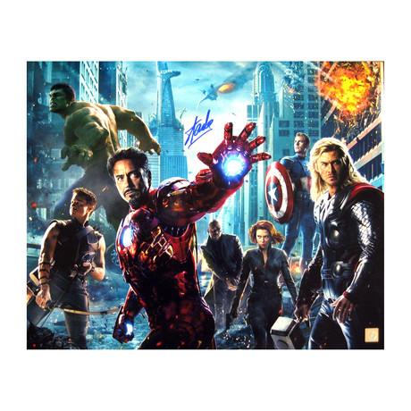 Stan Lee // Autographed Marvel Avengers Photos