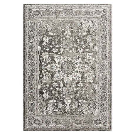 "Charcoal / Ivory Joaquin Rug // Large (9'6"" x 13')"