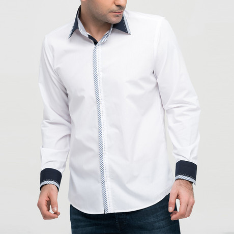 Nathaniel Button-Up Shirt // White (Small)