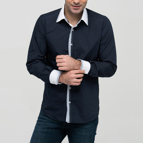 Max Button-Up Shirt // Dark Blue (Small)