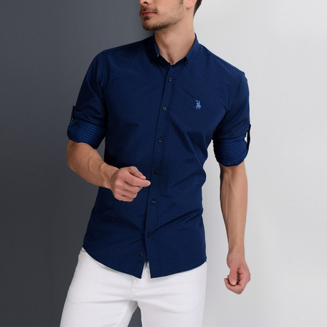 G657 Button-Down Shirt // Dark Blue (S)