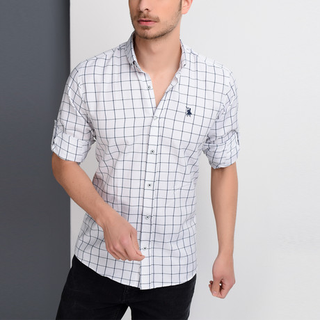 G658 Button-Down Shirt // White (S)