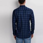 Charlie Button-Up Shirt // Dark Blue + Blue (3X-Large)