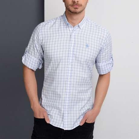 G653 Button-Down Shirt // Blue (3XL)