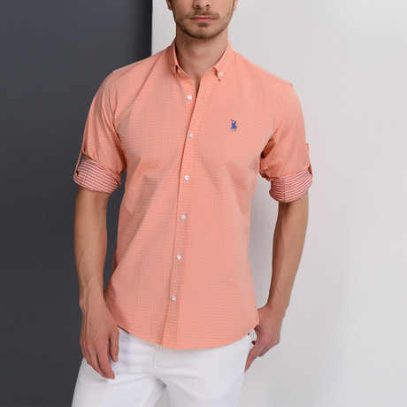 G657 Button-Down Shirt // Orange (S)