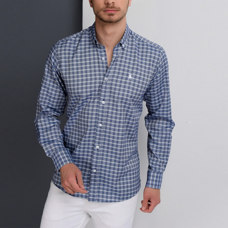 G653 Button-Down Shirt // Dark Blue (3XL)