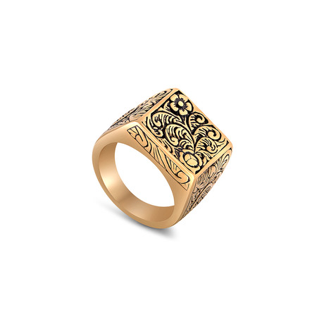 Floris Ring // Gold Finish (Size 6)