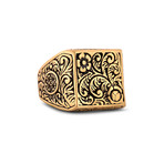 Floris Ring // Gold Finish (Size 6)
