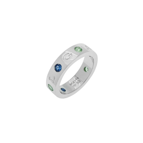 Bulgari Roman Sorbet 18k White Gold Band Ring // Ring Size: 6