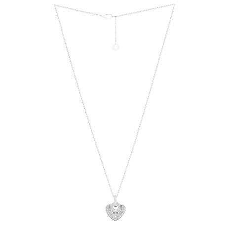 Bulgari Bulgari 18k White Gold Diamond Heart Necklace